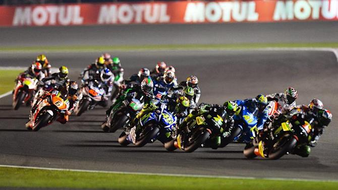 QTR 085. Doha (Qatar), 29/03/2015.- MotoGP riders in action during the MotoGP race of the Motorcycling Grand Prix of Qatar at Losail International Circuit in Doha, Qatar, 29 March 2015. (Motociclismo) EFE/EPA/STRINGER