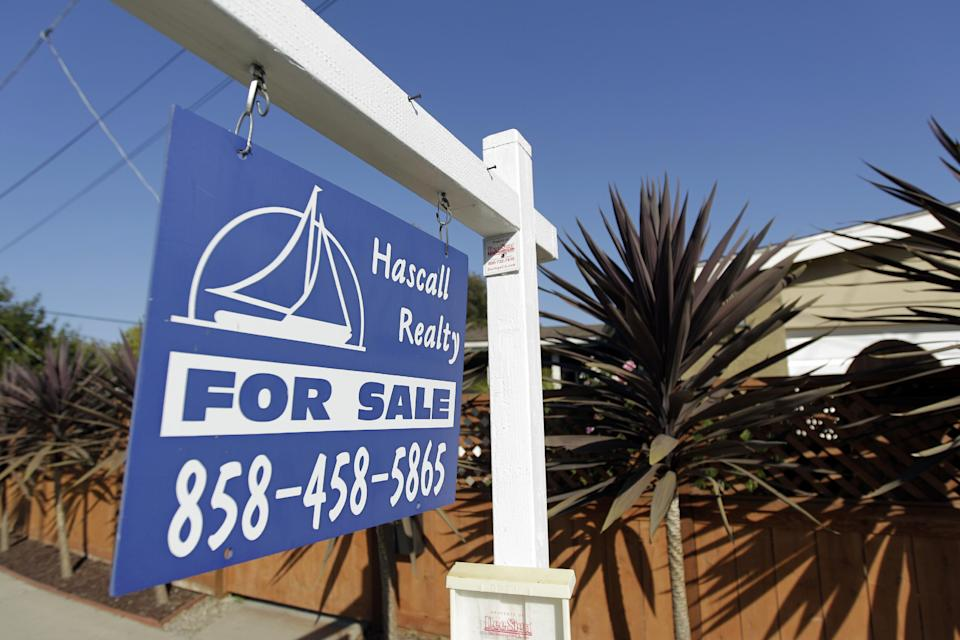 FILE-This June 13, 2012, file photo, shows a house for sale in San Diego. US home prices rose in all major US cities in June, further evidence of housing rebound. (AP Photo/Gregory Bull, File)