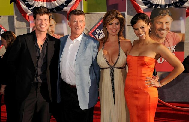 Swing Vote LA Premiere 2008 Robin Thicke Alan Thicke Paula Patton Gina Tolleson