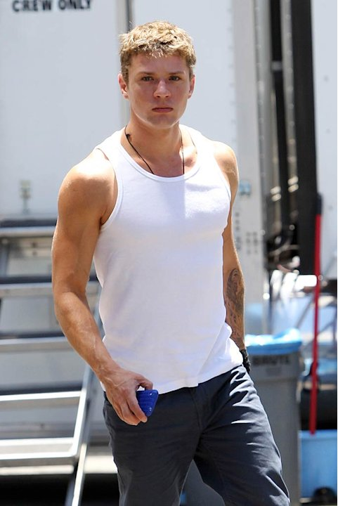 Ryan Phillippe Movie Set