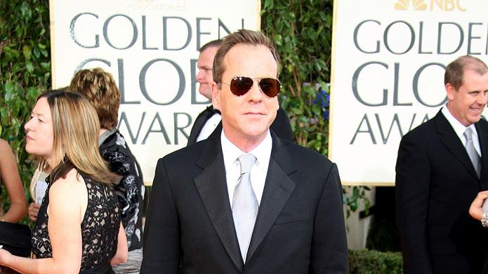 Kiefer Sutherland arrives at the 66th Annual Golden Globe Awards held at the Beverly Hilton Hotel on January 11, 2009 in Beverly Hills, California.