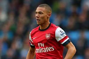 Arsenal fullback Gibbs ruled out for three weeks