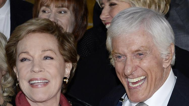 "Julie Andrews and Dick Van Dyke attend the film premiere of ""Saving Mr. Banks"" in Burbank"