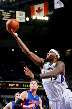Cousins helps Kings beat winless Pistons 105-103
