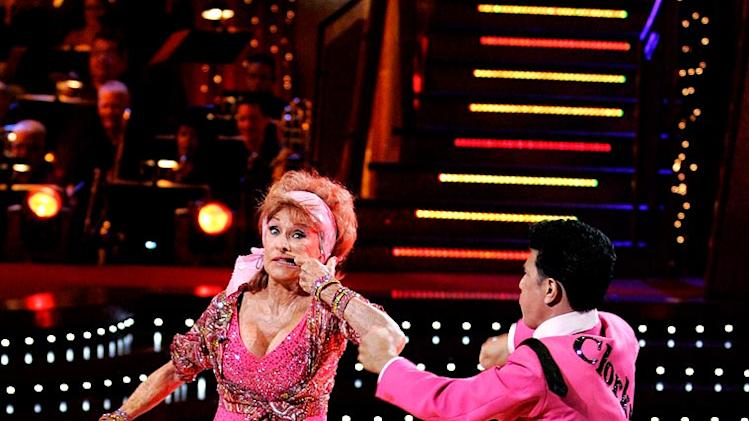 Cloris Leachman and Corky Ballas perform a dance on the seventh season of Dancing with the Stars.