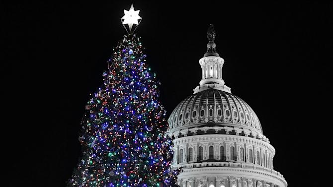 John Boehner Lights Capitol Christmas Tree At Ceremony