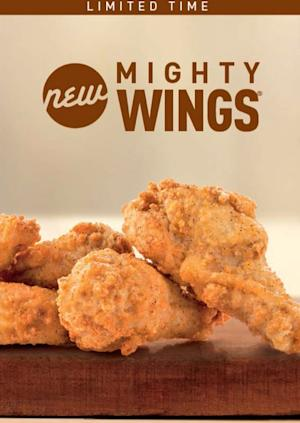 """This undated product image provided by McDonald's shows the restaurant's new """"Mighty Wings""""offering on the store's menu. The world's biggest hamburger chain is set to expand its test of chicken wings to Chicago this week, after a successful run in Atlanta last year. (AP photo/McDonald's)"""