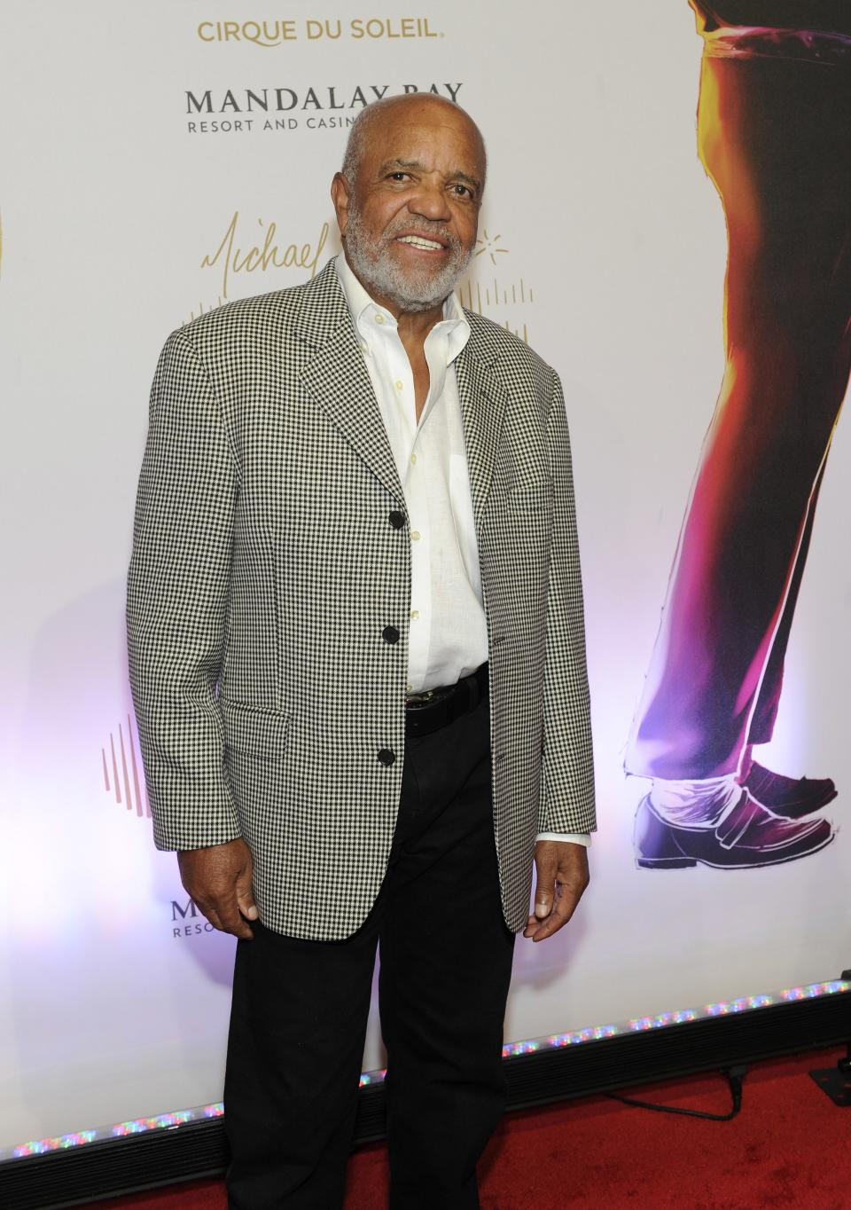 "Record Producer Berry Gordy arrives at the world premiere of ""Michael Jackson ONE"" at THEhotel at Mandalay Bay Resort and Casino on Saturday, June 29, 2013 in Las Vegas. (Photo by David Becker/Invision/AP)"