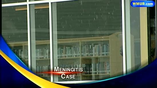 Student has confirmed case of meningitis