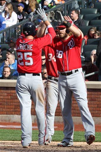 Harper hits 2 long home runs, Nationals beat Mets