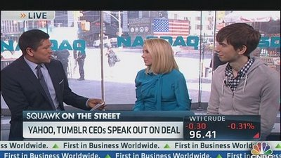 Yahoo's Mayer: We Didn't Pay Too Much for Tumblr
