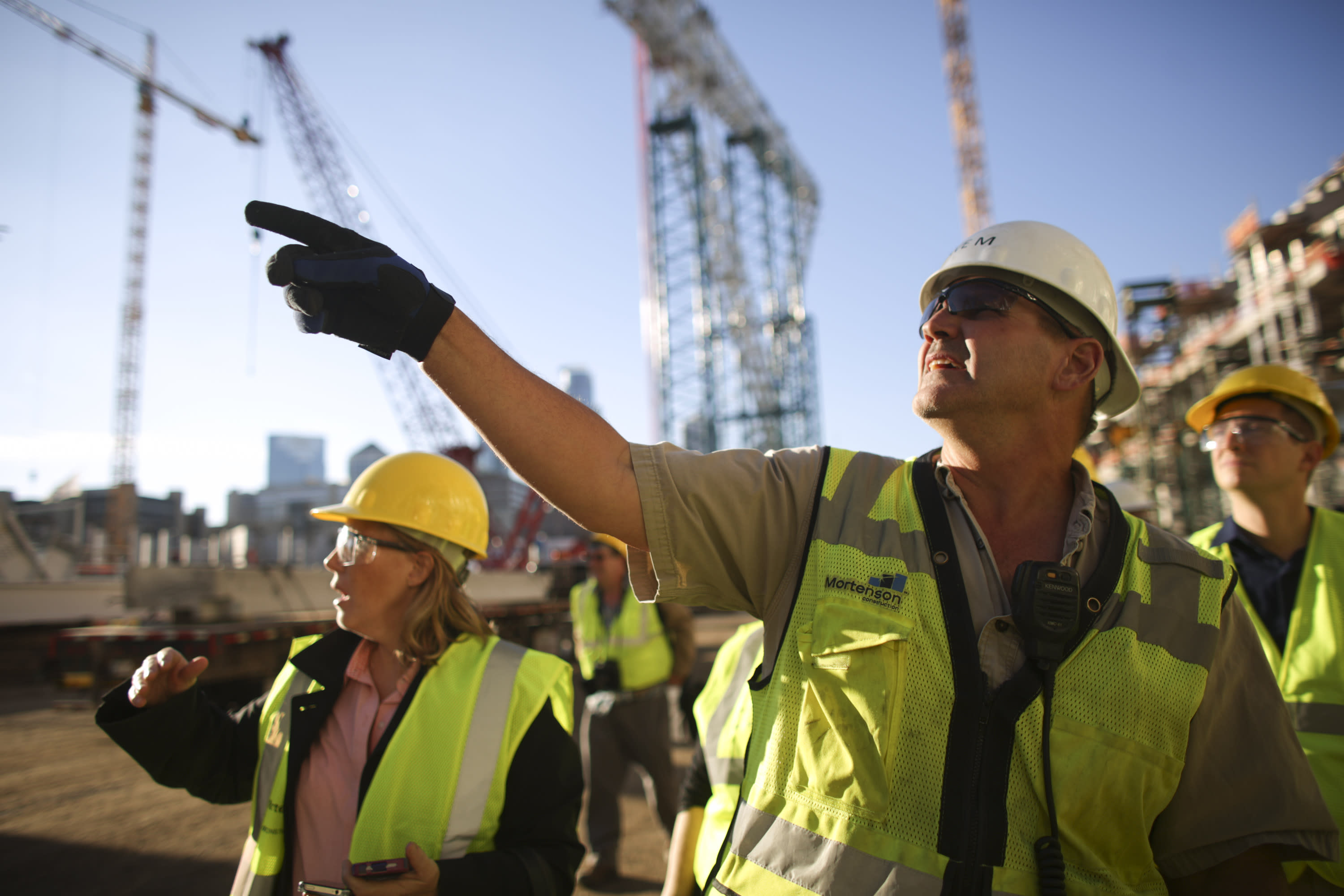 Vikings stadium builders work on career highlight