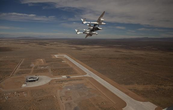 Virgin Galactic's Private SpaceShipTwo Soars in Test Flight