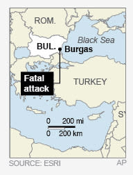 Map locates resort attack on the Black Sea