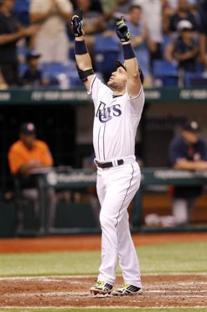 Scott homers, drives in 3 runs for Rays in win