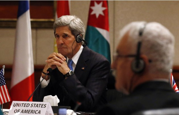 U.S. Secretary of State John Kerry attends the London 11 meeting in Amman