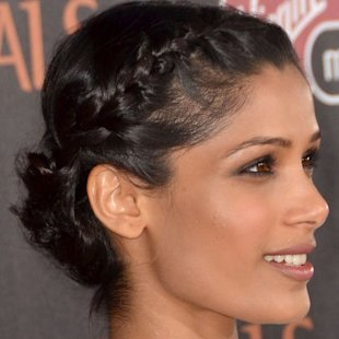 Freida Pinto: Halo Braid Hair Trend
