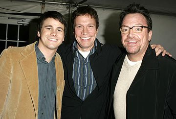 Jason Ritter, writer/director Don Roos and Tom Arnold Happy Endings Premiere - 1/20/2005 Sundance Film Festival