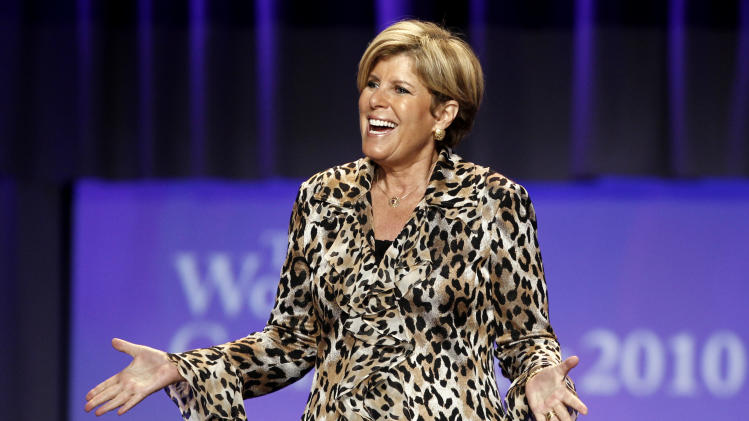 TV personality Suze Orman speaks at the Women's Conference Tuesday, Oct. 26, 2010, in Long Beach, Calif. (AP Photo/Matt Sayles)