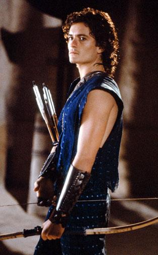 Orlando Bloom as Paris in Warner Brothers' Troy