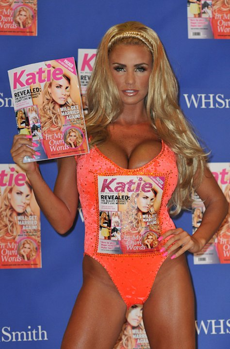 Katie Price launched her latest business venture this week: her brand new magazine, called 'Katie.' And, in true Pricey style, Katie slipped on the tiniest leotard we have ever seen and had th