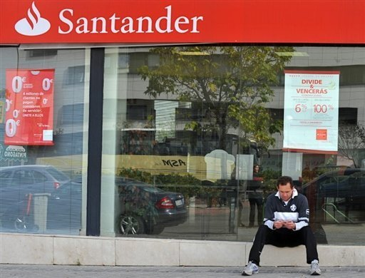 &lt;p&gt;Spanish banking titan Santander has reported a third-quarter profit plunge as it wrote down billions of euros in assets linked to a 2008 property market collapse.&lt;/p&gt;