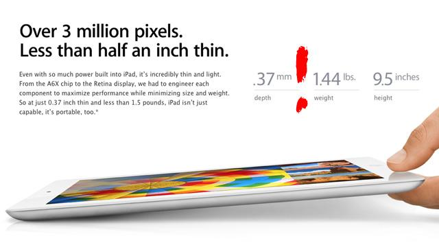 According to Apple, New iPad Is as Thin as a Pencil Lead
