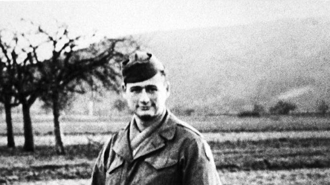 FILE - This 1944 file photo shows Ed Koch during his service in the U.S. Army in France. Koch, the combative politician who rescued the city from near-financial ruin during three City Hall terms, has died at age 88. Spokesman George Arzt says Koch died Friday morning Feb. 1, 2013 of congestive heart failure. (AP Photo/File)