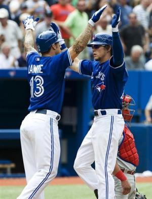 Rasmus leads Blue Jays to sweep of Phillies