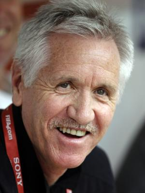 FILE - In this July 6, 2011, file photo, Australia head coach Tom Sermanni smiles prior to their group D match against Norway at the Women's Soccer World Cup in Leverkusen, Germany. Sermanni was hired Tuesday, Oct. 30, 2012, to replace Pia Sundhage, who led the United States women's soccer team to back-to-back Olympic gold medals and their first World Cup final in 12 years. Sermanni has spent the last eight years as Australia's coach, taking the Matildas to the quarterfinals of the last two Women's World Cups. (AP Photo/Frank Augstein, File)