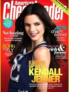 Kendall Jenner appears on the cover of American Cheerleader magazine -- justjaredjr.com