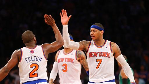 Anthony, Knicks rout Celtics for 2-0 series lead