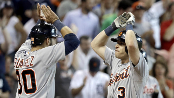 Kinsler's HR in 9th lifts Tigers over Astros 4-3