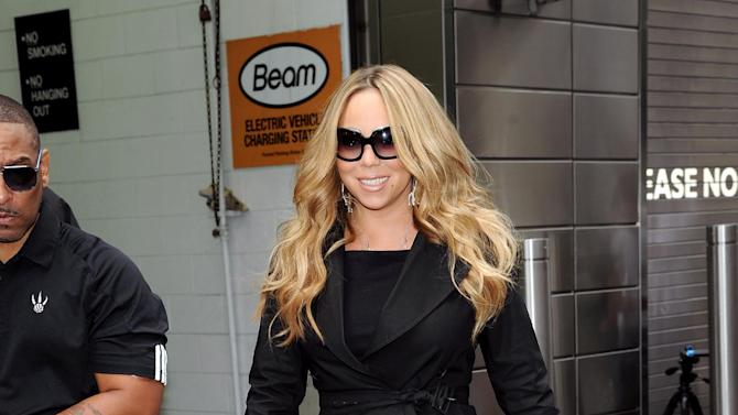 """""""American Idol"""" Season 12 judge Mariah Carey arrives for day one auditions at Jazz at Lincoln Center on Sunday, Sept. 16, 2012 in New York. (Photo by Evan Agostini/Invision/AP)"""