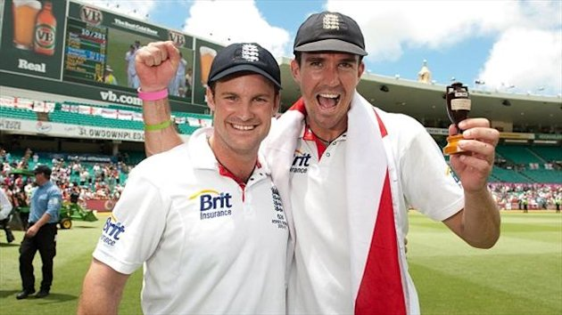 Andrew Strauss, left, believes Kevin Pietersen will perform for England in the Ashes