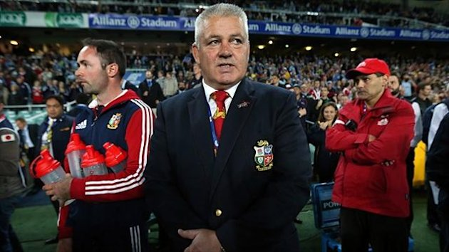 Warren Gatland, centre, lauded his team's professional approach against the Waratahs