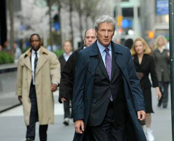 Actor Richard Gere filming on location for &quot;Arbitrage&quot;  on the streets of Manhattan on April 11, 2011 in New York City.  (Photo by Bobby Bank/WireImage)