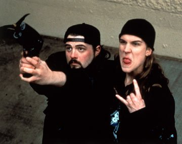 Kevin Smith and Jason Mewes in Gramercy Pictures' Mallrats