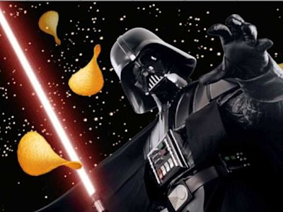 star wars pringles darth vader