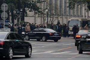 Chinese leaders and officials arrive at the Jingxi…