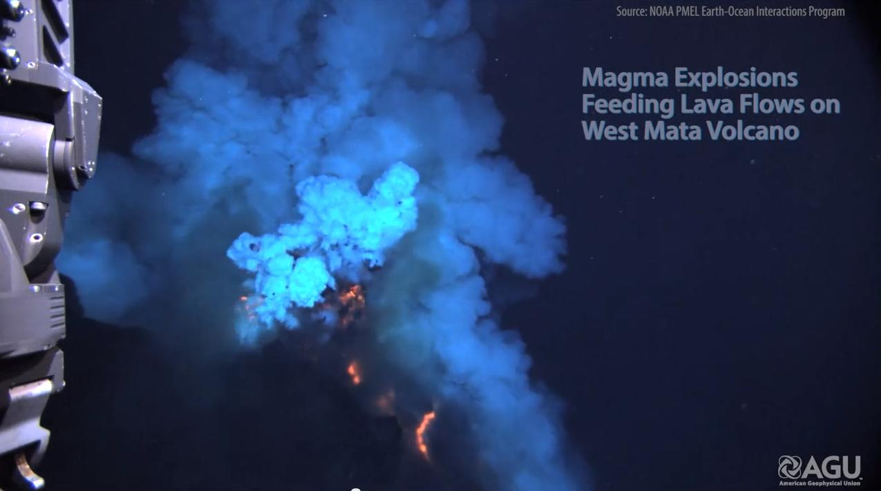 Watch: Scientists get rare glimpse of undersea volcano