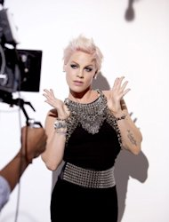 Pink shooting her new Cover Girl campaign