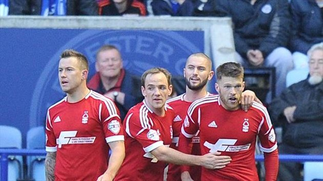 Nottingham Forest got the local bragging rights as they beat Leicester at the King Power Stadium.