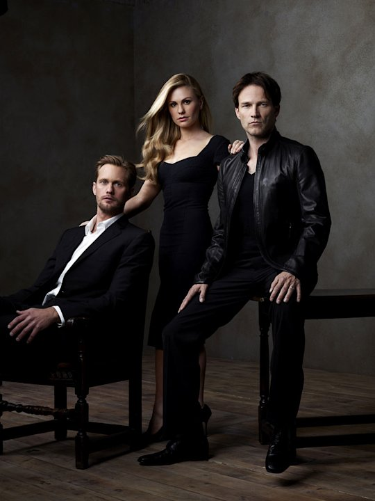 Alexander Skarsgard, Anna Paquin, and Stephen Moyer star in &quot;True Blood.&quot; 