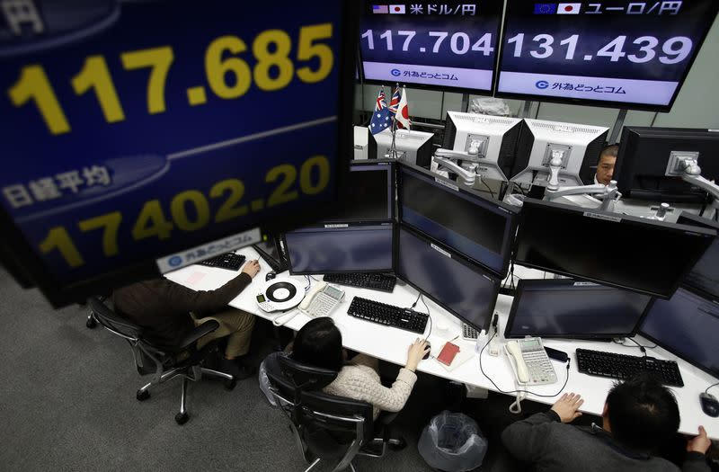 Asia wavers, but Wall Street gains lend support