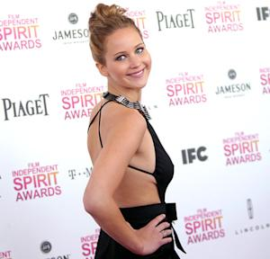 Jennifer Lawrence Shows Sideboob in Sexy Lanvin Dress at the 2013 Film Independent Spirit Awards