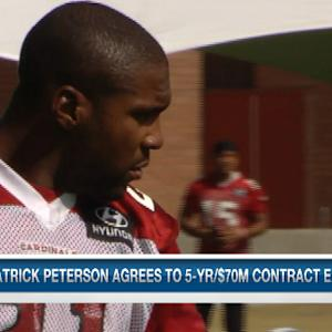 Arizona Cardinals cornerback Patrick Peterson's contract causes a Twitter battle with Seattle Seahawks cornerback Richard Sherman