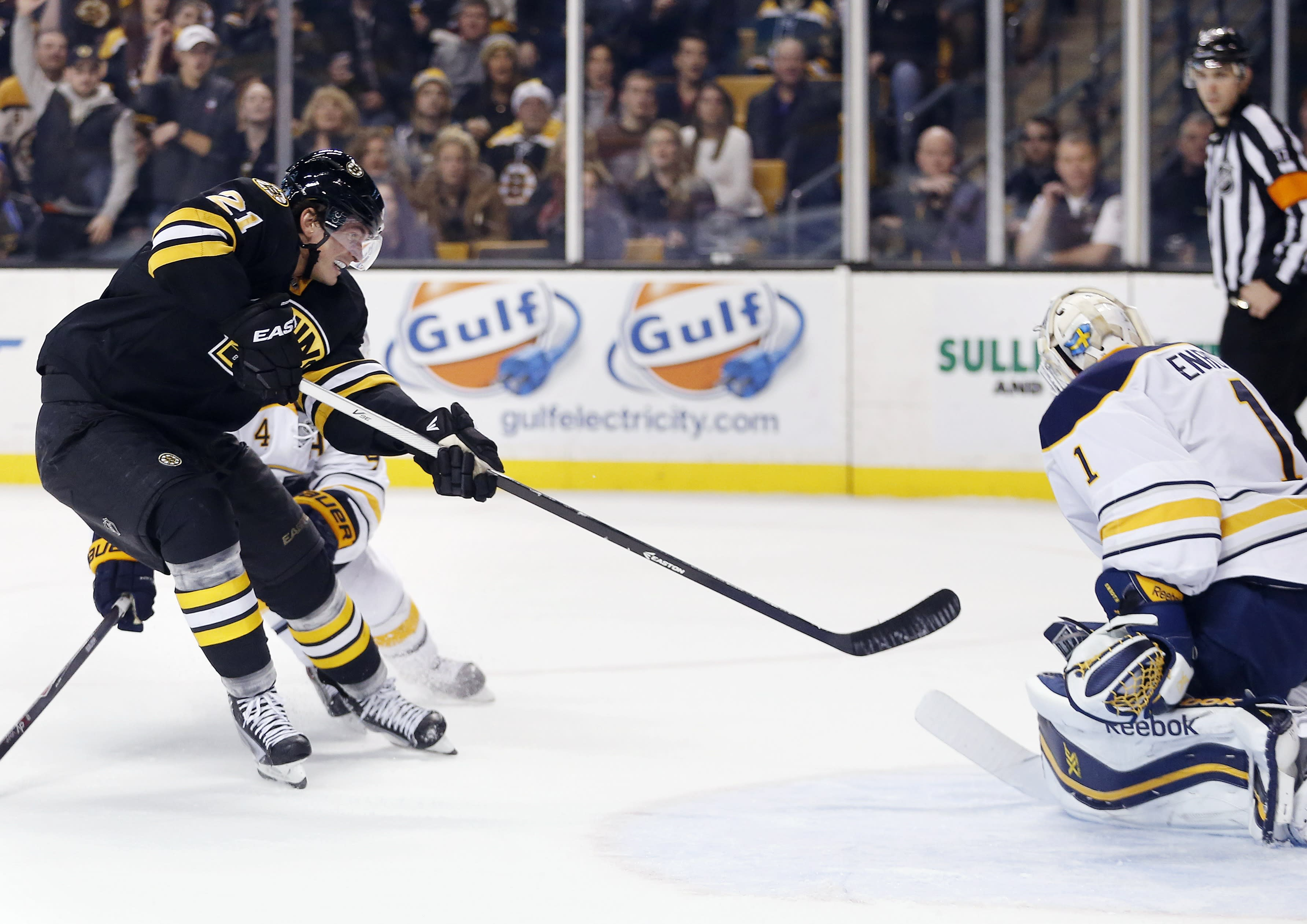 Bruins rally for 4-3 overtime win against Sabres