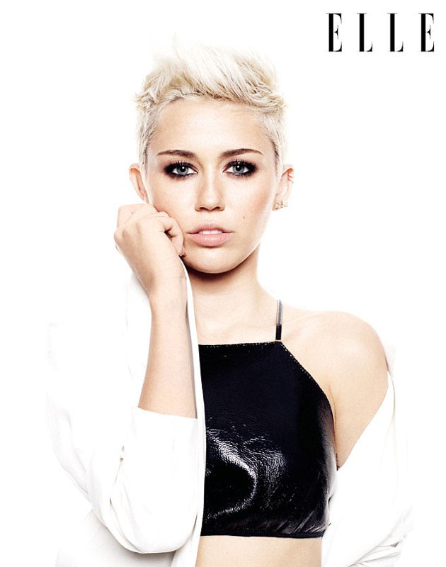 Miley Cyrus Elle UK Magazine