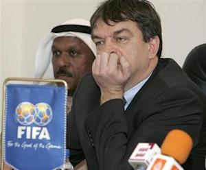 Jerome Champagne FIFA's director for international relations, attend a meeting with Kuwaiti Clubs in Kuwait